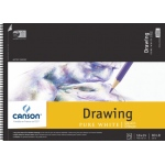 "Canson® Artist Series 18"" x 24"" Drawing Sheet Pad: Wire Bound, White/Ivory, Pad, 24 Sheets, 18"" x 24"", Fine, (model C100510893), price per 24 Sheets pad"
