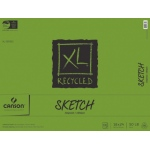 "Canson® XL® 18"" x 24"" Recycled Sketch 100-Sheet Pad (Fold Over): Fold Over, White/Ivory, Pad, 100 Sheets, 18"" x 24"", Medium, (model C100510925), price per 100 Sheets pad"