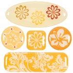 "Blue Hills Studio™ ColorStories™ 3D Charms Yellow: Yellow, Epoxy, 3 1/4"" x 3 1/4"", Dimensional"