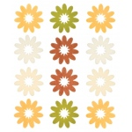 "Blue Hills Studio™ ColorStories™ Flocked Daisy Stickers Yellow: Yellow, Flock, 4 3/4"" x 5 3/4"", Flat"
