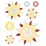 "Blue Hills Studio™ ColorStories™ Epoxy Snowflower Stickers Yellow: Yellow, Epoxy, 4 3/4"" x 5 3/4"", Dimensional"