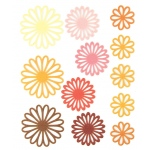 "Blue Hills Studio™ ColorStories™ Gel Outline Daisy Stickers Yellow: Yellow, Gel, 4 3/4"" x 5 3/4"", Dimensional"