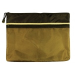 "Alvin 10"" x 13"" Dual Zippered Pocket Fabric Mesh Bag"