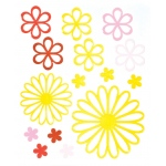 "Blue Hills Studio™ ColorStories™ Glossy Embossed Daisy Stickers Yellow: Yellow, Gel, 4 3/4"" x 5 3/4"", Dimensional"