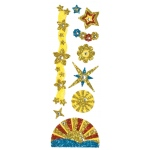 "Blue Hills Studio™ ColorStories™ Glitter Bling Stickers Yellow: Yellow, Glitter, 2"" x 5 3/4"", Flat, (model BHS10212), price per each"