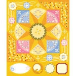 "Blue Hills Studio™ ColorStories™ Cardstock Stickers Yellow: Yellow, Cardstock, 4 3/4"" x 5 3/4"", Flat"