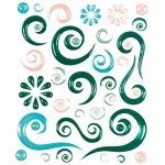 "Blue Hills Studio™ ColorStories™ Epoxy Swirl Stickers Green: Green, Epoxy, 4 3/4"" x 5 3/4"", Dimensional"