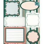 "Blue Hills Studio™ ColorStories™ Embossed Cardstock Stickers Green: Green, Cardstock, 4 3/4"" x 5 3/4"", Flat"