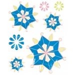 "Blue Hills Studio™ ColorStories™ Epoxy Snowflower Stickers 4 3/4"" x 5 3/4"" Dimensional"