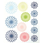 "Blue Hills Studio™ ColorStories™ Gel Outline Daisy Stickers Blue: Blue, Gel, 4 3/4"" x 5 3/4"", Dimensional"