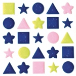 "Blue Hills Studio™ ColorStories™ Puffy Mesh Stickers 3 1/4"" x 3 1/4"" Dimensional"
