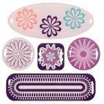 "Blue Hills Studio™ ColorStories™ 3D Charms Purple: Purple, Epoxy, 3 1/4"" x 3 1/4"", Dimensional"
