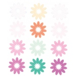 "Blue Hills Studio™ ColorStories™ Flocked Daisy Stickers Purple: Purple, Flock, 4 3/4"" x 5 3/4"", Flat"