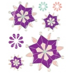 "Blue Hills Studio™ ColorStories™ Epoxy Snowflower Stickers Purple: Purple, Epoxy, 4 3/4"" x 5 3/4"", Dimensional"