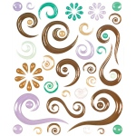 "Blue Hills Studio™ ColorStories™ Epoxy Swirl Stickers Brown: Brown, Epoxy, 4 3/4"" x 5 3/4"", Dimensional"