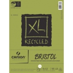 "Canson® XL® 9"" x 12"" Recycled Bristol Pad (Fold Over): Fold Over, White/Ivory, Pad, 25 Sheets, 9"" x 12"", Smooth, Vellum"
