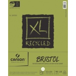 "Canson® XL® 11"" x 14"" Recycled Bristol Pad (Fold Over): Fold Over, White/Ivory, Pad, 25 Sheets, 11"" x 14"", Smooth, Vellum"