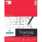 "Canson® Foundation Series 11"" x 14"" Tracing Paper Pad: Fold Over, White/Ivory, Pad, 50 Sheets, 11"" x 14"", Smooth"