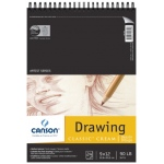 "Canson® Classic™ Artist Series 9"" x 12"" Drawing Pad (Top Wire): Wire Bound, White/Ivory, Pad, 24 Sheets, 9"" x 12"", Medium, (model C100510973), price per 24 Sheets pad"