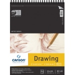 "Canson® Classic™ Artist Series 11"" x 14"" Drawing Pad (Top Wire): Wire Bound, White/Ivory, Pad, 24 Sheets, 11"" x 14"", Medium"