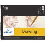 "Canson® Classic™ Artist Series 14"" x 17"" Drawing Pad (Top Wire): Wire Bound, White/Ivory, Pad, 24 Sheets, 14"" x 17"", Medium"