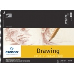 "Canson® Classic™ Artist Series 18"" x 24"" Drawing Pad (Top Wire): Wire Bound, White/Ivory, Pad, 24 Sheets, 18"" x 24"", Medium"