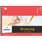 "Canson® Foundation Series 18"" x 24"" Foundation Drawing Pad: Wire Bound, White/Ivory, Pad, 30 Sheets, 18"" x 24"", Fine, (model C100510981), price per 30 Sheets pad"