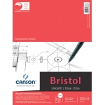 "Canson® Foundation Series 9"" x 12"" Foundation Bristol Sheet Pad: Fold Over, White/Ivory, Pad, 15 Sheets, 9"" x 12"", Smooth"
