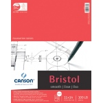 "Canson® Foundation Series 11"" x 14"" Foundation Bristol Sheet Pad: Fold Over, White/Ivory, Pad, 15 Sheets, 11"" x 14"", Smooth, (model C100511014), price per 15 Sheets pad"