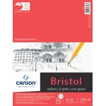 "Canson® Foundation Series Vellum Bristol 9"" x 12"": Fold Over, White/Ivory, Pad, 15 Sheets, 9"" x 12"", Vellum"