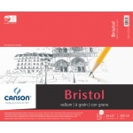 "Canson® Foundation Series Foundation Series Vellum Bristol 14"" x 17"": Fold Over, Pad, 15 Sheets, 14"" x 17"", Bristol, 100 lb, (model C100511019), price per 15 Sheets pad"
