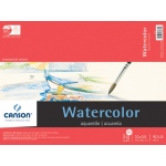 "Canson® Foundation Series 11"" x 15"" Watercolor Cold Press 15-Sheet Pad: Fold Over, White/Ivory, Pad, 15 Sheets, 11"" x 15"", Cold Press"
