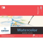 "Canson® Foundation Series 18"" x 24"" Watercolor Cold Press 15-Sheet Pad: Fold Over, White/Ivory, Pad, 15 Sheets, 18"" x 24"", Cold Press"