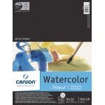 "Canson® Montval® Artist Series 9"" x 12"" Cold Press Watercolor Pad (Fold Over): Fold Over, White/Ivory, Pad, 12 Sheets, 9"" x 12"", Cold Press, (model C100511051), price per 12 Sheets pad"