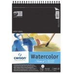 "Canson® Montval® Artist Series 9"" x 12"" Cold Press Watercolor Pad (Top Wire): Wire Bound, White/Ivory, Pad, 12 Sheets, 9"" x 12"", Cold Press"