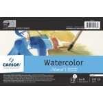 "Canson® Montval® Artist Series 6"" x 9"" Watercolor Cold Press Block Pad 140lb/300g: Fold Over, White/Ivory, Block, 15 Sheets, 6"" x 9"", Cold Press"