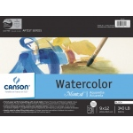 "Canson® Montval® Artist Series 9"" x 12"" Watercolor Cold Press Block Pad 140lb/300g: Fold Over, White/Ivory, Block, 15 Sheets, 9"" x 12"", Cold Press"