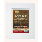 "Heritage Arts™ Standard Series 8"" x 10"" Pre-Cut Double Layer White Mat Kit: White/Ivory, Frame, Pre-Cut Mat Board, 8"" x 10"", 1/8"", Presentation Board, (model H0810SDW), price per each"