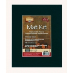 "Heritage Arts™ Standard Series 8"" x 10"" Pre-Cut Single Layer Black Mat Kit: Black/Gray, Frame, Pre-Cut Mat Board, 8"" x 10"", 1/16"", Presentation Board, (model H0810SSB), price per each"
