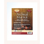 "Heritage Arts™ Archival Series 11"" x 14"" Pre-Cut Single Layer White Mat Kit: White/Ivory, Frame, Pre-Cut Mat Board, 11"" x 14"", 1/16"", Presentation Board, (model H1114ASW), price per each"