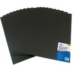 "Alvin® Black on Black Presentation Boards 16"" x 20"" (Retail Pack): Black/Gray, Sheet, 10 Sheets, 16"" x 20"", Presentation Board, (model PB1620-10), price per 10 Sheets"