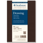 "Strathmore® 400 Series Soft Cover Drawing Journal 5.5"" x 8"": Sewn Bound, White/Ivory, Journal, 96 Pages, 5 1/2"" x 8"", Medium, Drawing, 80 lb, (model ST482-5), price per each"