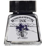 Winsor & Newton™ Drawing Ink 14ml Violet: Purple, Bottle, 14 ml, Drawing Ink, (model 1005688), price per each