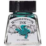 Winsor & Newton™ Drawing Ink 14ml Viridian: Green, Bottle, 14 ml, Drawing Ink, (model 1005692), price per each