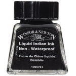Winsor & Newton™ Drawing Ink 14ml Liquid Indian Ink: Black/Gray, Bottle, 14 ml, Drawing Ink, (model 1005754), price per each