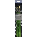 Liquitex® Free-Style™ 4-Piece Traditional Brush Set: Bright, Filbert, Flat, Round, (model 1301201), price per set