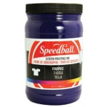 Speedball® Fabric Screen Printing Ink Violet : Purple, Jar, Fabric, 32 oz, Screen Printing