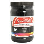 Speedball® Fabric Screen Printing Ink Black : Black/Gray, Jar, Fabric, 32 oz, Screen Printing, (model 4600), price per each
