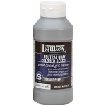 Liquitex® Colored Gesso Neutral Gray: Black/Gray, 8 oz, Acrylic Painting, Gesso