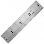 "General® 12"" Vocational Stainless Steel Ruler: White/Ivory, Steel, 12"", Ruler, (model 1538), price per each"
